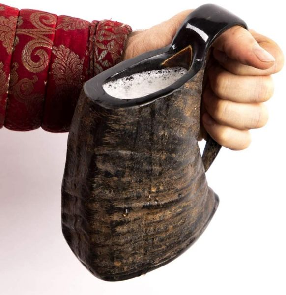 Hornkrug aus Büffelhorn mit Short Becher