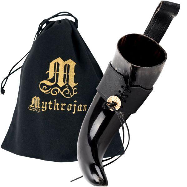 Trinkhorn 400 ml mit Lederhalter