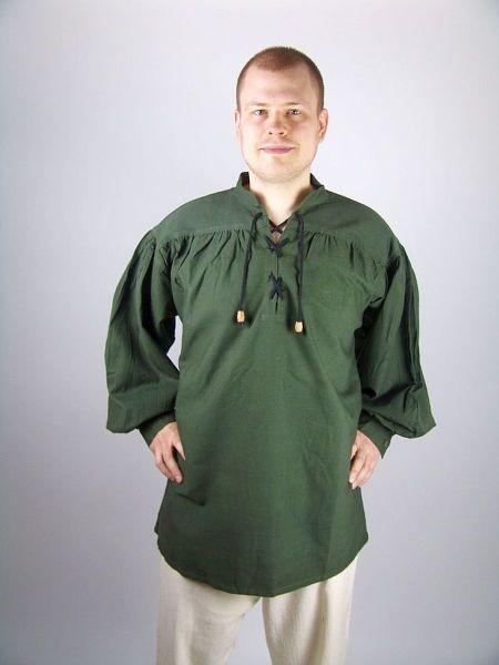 Einfaches Mittelalterhemd Grün