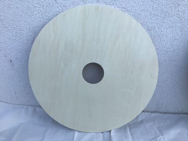 Rohling Pappel 8 mm mit 14 cm Ausschnitt