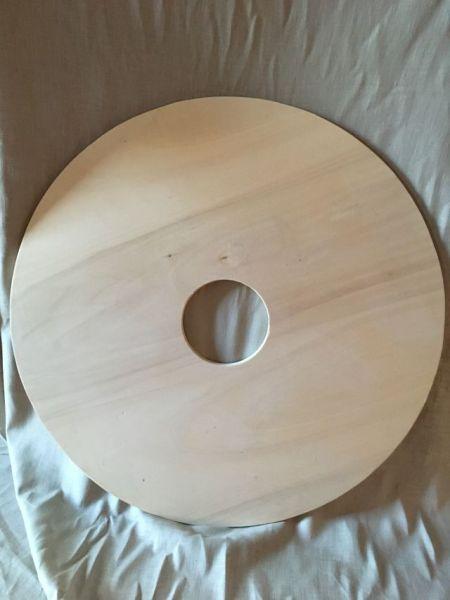 Rundschildrohling Pappel 12 mm mit 12 cm Ausschnitt